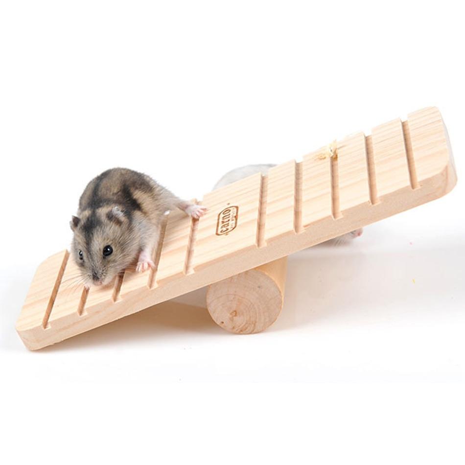 Tevékenység Fa nyúl hörcsög Seesaw Gerbil patkány egér játék - Pet termékek