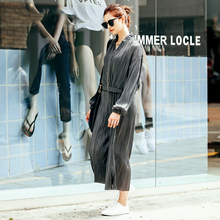 [XITAO] NEW autumn  regular length loose form tops & ankle-length wide legs elastic waist solid color female sets MFB-023