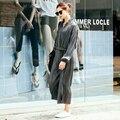 [XITAO] outono NOVA forma regular comprimento solto tops & tornozelo-comprimento conjuntos de pernas largas de cintura elástica cor sólida feminino MFB-023