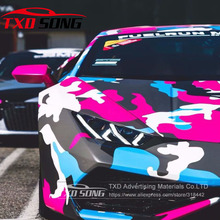 Nieuwe Aankomst Auto Styling Heldere Kleur Camouflage Vinyl Camo Sticker Voor Car Wrapping Camo Vinyl Film Met Lucht Gratis Bellen