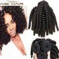 Бразильский странный Вьющиеся Волосы Ткать Пучки Бразильского Виргинские Человеческих Волос Tissage Bresilienne Короткие Вьющиеся Weave 10 12 Дюймов