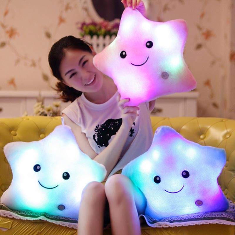 1 Piece On sale 5 Colors New Summer Stuffed Plush Toys Five Star Light Colorful Pillows Stars Popular Baby Toys