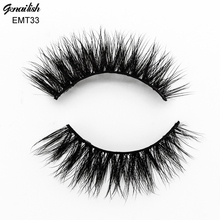 Genailish False Eyelashes Horse Hair 100% Hand Made Soft&Comfortable with Good Quality Eye Extension for Makeup-EMT033