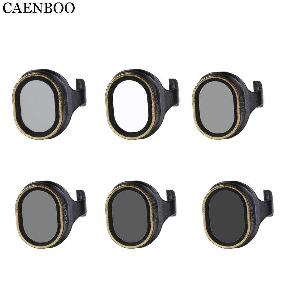 все цены на CAENBOO Drone Filter UV CPL Polar Polarizing ND4 ND8 ND16 ND32 Neutral Density Filters Set Fit For DJI Spark Gimbal Accessories онлайн