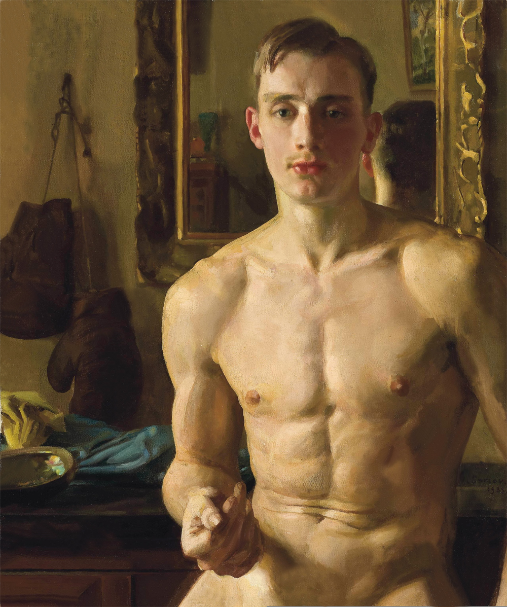 2020 TOP ART # original NUDE MAN ART oil painting --NUDE MALE MEN body gay ART the PAINTER art painting on canvas-30 INCHES