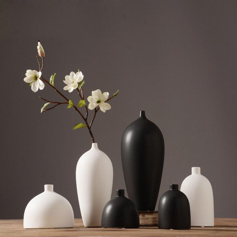 Японском стиле творческий Керамика цветок Вазы дома Обеденный Украшение стола Вазы для подарок на день рождения сплошной Цвет Книги по иск...