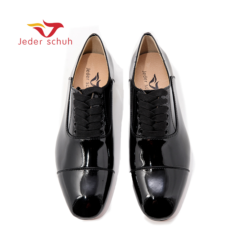 Jeder Schuh New Black Patent Leather Men Loafers Fashion Party And Wedding Men's Dress Shoes Oxfords