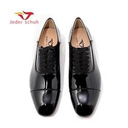 Jeder Schuh Nuovo nero della pelle verniciata degli uomini dei fannulloni degli uomini di partito e di cerimonia nuziale di Modo pattini di vestito Oxfords