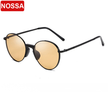 2019 tide round frame wild sunglasses full frame metal decorative sunglasses men and women with the same couple sunglasses.
