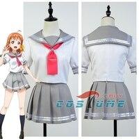 Anime Love Live Lovelive Sunshine Aqours Cosplay Costume Takami Chika Cosplay Costume School Girls Sailor Uniform
