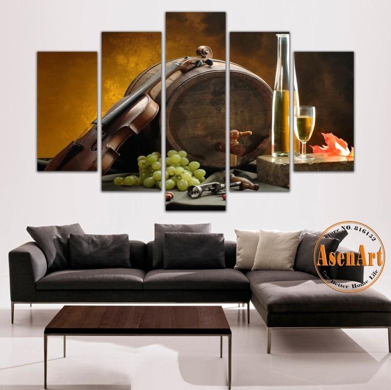 2017 Wall Art Fruit Grape Red Wine Glass Picture Art For: Popular Wine Barrel Art-Buy Cheap Wine Barrel Art Lots