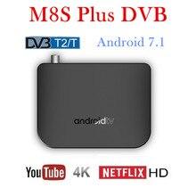 smart tv box android 7.1 octa core 4k mecool m8s plus dvb t2