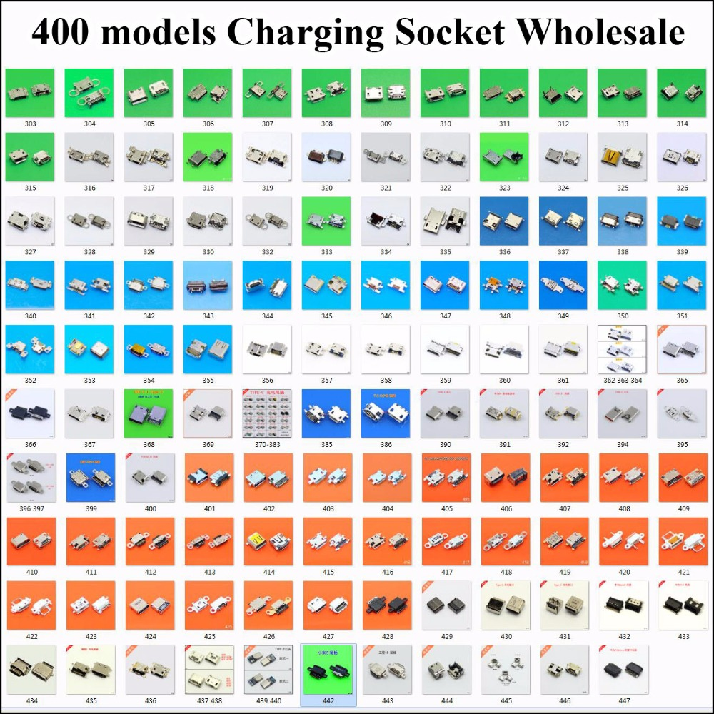 400models USB Charging Socket for Samsung/Xiaomi/Redmi/Huawei/Moto/Lenovo/LG/HTC/SONY/ZTE/OPPO/Meizu/... mobile phone tabket pc chenghaoran 36models micro usb connector very common used charging port for zte lenovo huawei and other brand mobile tablet gps