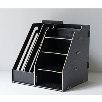 ITECHOR escritorio DIY desmontable escritorio multicapa Marco de archivo revista de papel documento Escritorio de oficina estante para organizadores