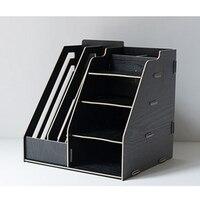 iTECHOR Desk Shelf DIY Detachable Desktop Multilayer File Frame Paper Magazine Document Office Desk Shelf for Organizers