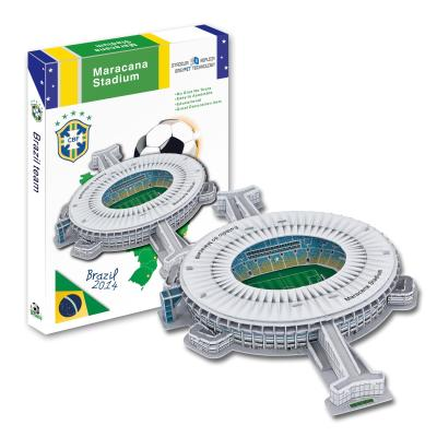 Candice guo 3D puzzle DIY toy paper building model maracana Stadium football soccer assemble game hand work birthday gift set наушники sony mdr zx310l