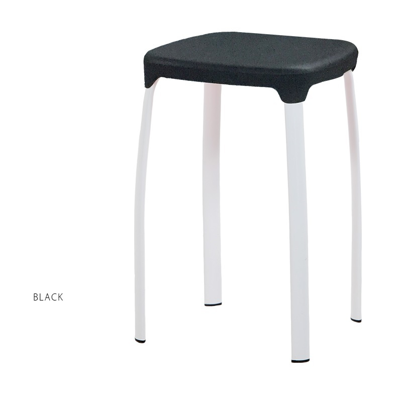 black color living room stool PP seat steel metal leg red yellow green color chiar stool retail wholesale free shipping regal bar stool villa living room coffee stool yellow red color furniture shop retail wholesale design free shipping