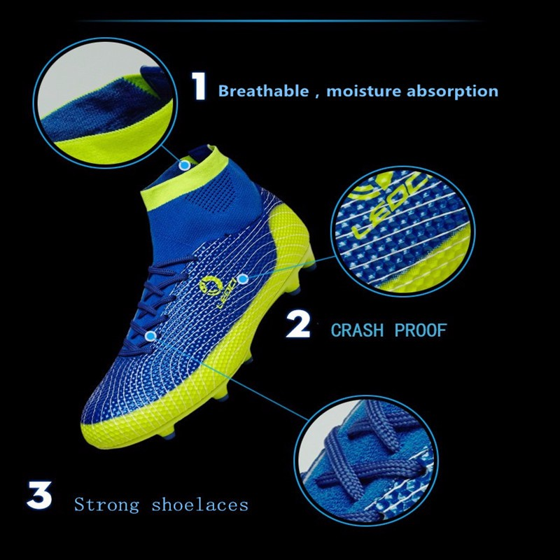 2017 High Ankle Kids Football Boots Superfly Original Cheap Indoor Soccer Football Shoes Cleats Boys Girls Sneakers High Quality 9