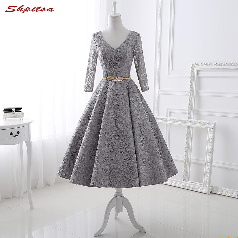 Knee Length Cocktail Dresses Summer Women Mini Evening Prom Coctail Party Semi Formal Dr ...