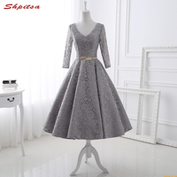 Knee Length Cocktail Dresses Summer Women Mini Evening Prom Coctail Party Semi Formal Dress