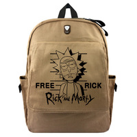 2018 Hot Sale Rushed Unisex Softback Mochila Escolar Mochilas Rick And Morty Canvas Backpack Bag Students High capacity Package