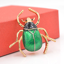 CINDY XIANG Cute Beetle Brooches Unisex Enamel Brooch Pin Fashion Insect Winter Coat Accessories 2 Colors Choose Broches Gift