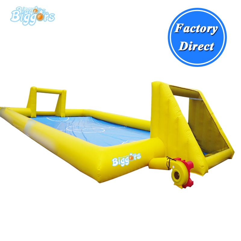 Inflatable Soapy Stadium Inflatable Football Field Inflatable Football Court With Blowers