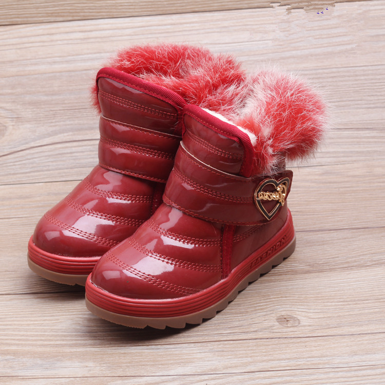 Children S Boots Winter Kids Girls Boys Snow Shoes Non Slip Plus Cotton Boots Child Fashion