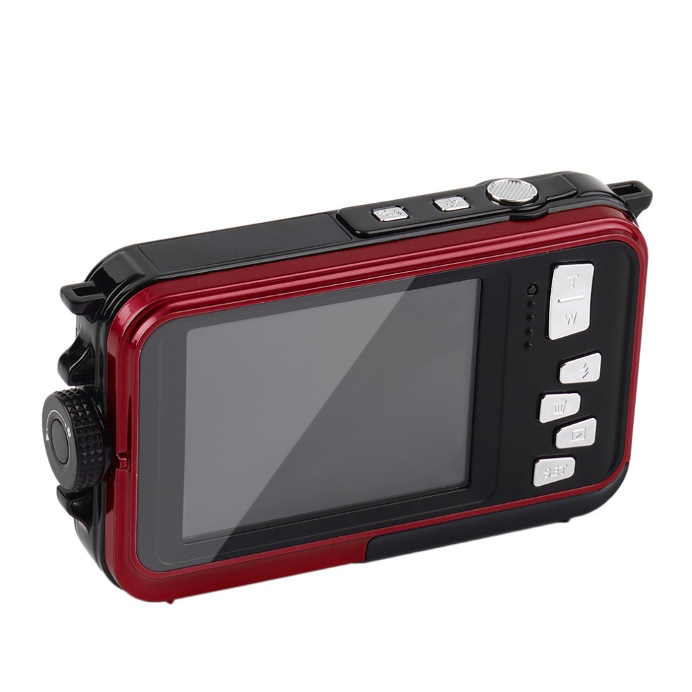 karue H268 Dual HD Back 2.7 inch Front 1.8 LCD Screen 16X Digital Zoom 24MP Max Waterproof Diving 3M waterproof