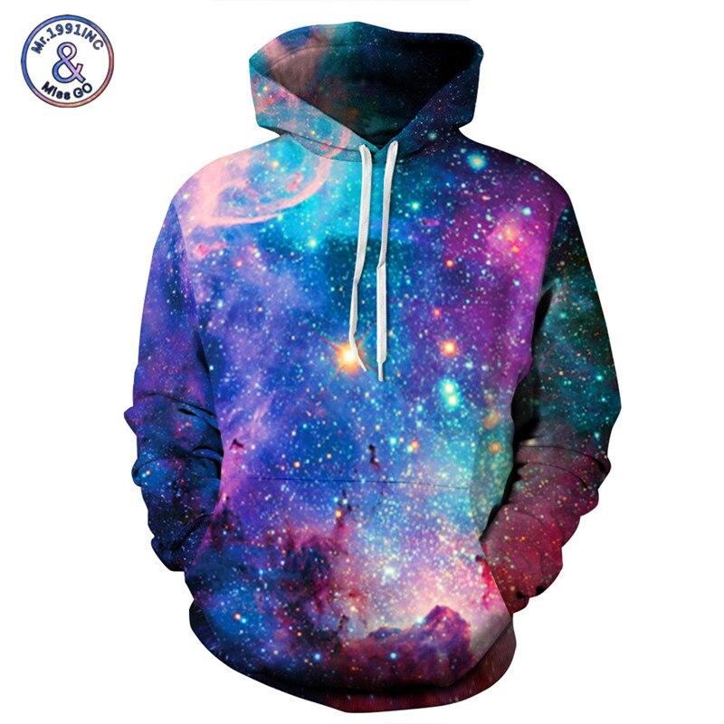 Mr.1991INC Marke Hoodies Männer/Frauen Raum Galaxy 3D Druck Hoodie Sweatshirts Mit Kappe Herbst Paare Hoody Tops moletom