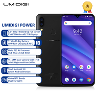UMIDIGI POWER 4G Smartphone 6.3 Inch Android 9.0 Helio P35 Octa Core 4GB RAM 64GB ROM 16.0MP Front Camera 5150mAh Mobile Phone
