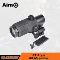 Aim O Tactical Hunting Rifle Holographic Red Dot Optics Sight 3x Magnifier For Airsoft Gun With