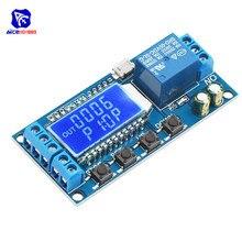 Реле задержки времени 5 в таймер цикла задержки-выключения 0.01s-9999 минут триггер реле задержки коммутации модуль с ЖК-дисплеем с Micro USB