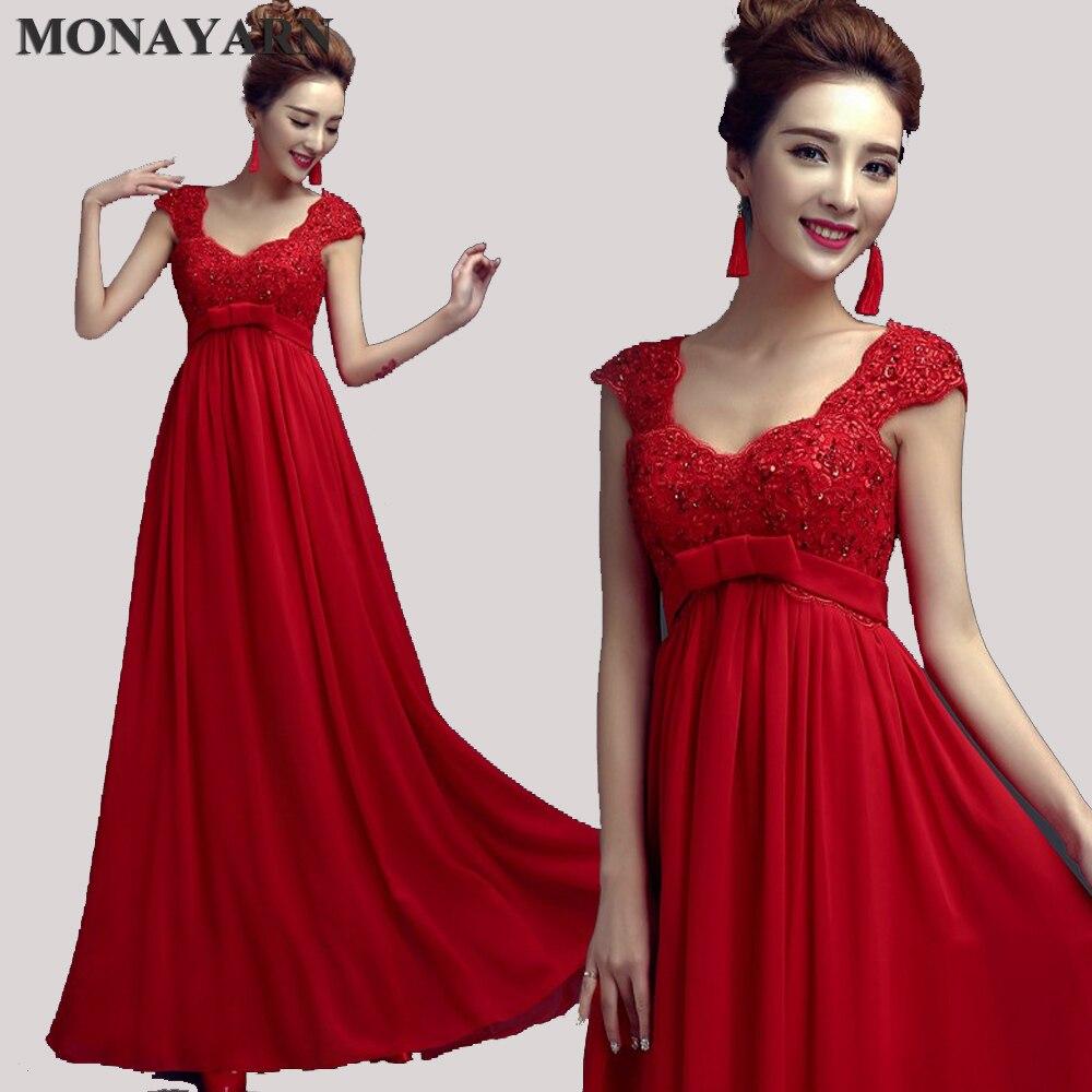 Mère de la robe de mariée 2017 longues robes de soirée rouge parti dîner maternité femme enceinte grande taille col en V 8 couleurs