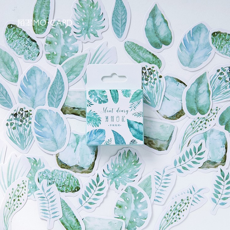 45 Pcs/lot Creative Cute Leaves Mini Paper Sticker Decoration Diy Ablum Diary Scrapbooking Label Sticker Kawaii Stationery