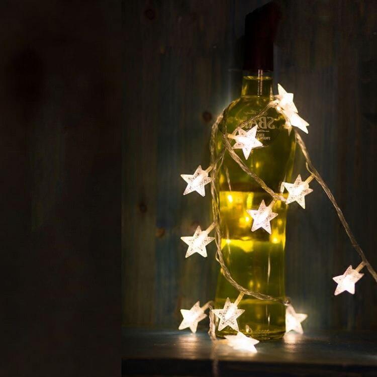 nueva m led estrella de hadas de la secuencia de las luces para