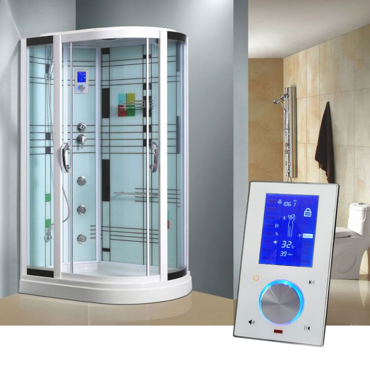 LCD Screen Touch Bluetooth Function Sauna Room Steam Controller Digital Steam Room Control System With 3KW Steam Generator