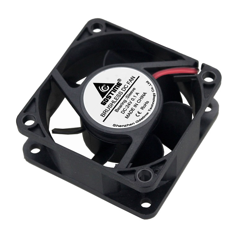 2pcs Gdstime 60mm DC 24V 60x60x25mm 6025s 6cm Brushless DC Cooling Exhaust Fan in Fans Cooling from Computer Office