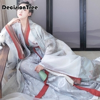 2019 new traditional chinese dance costumes women sleeve folk dance costume national costume for woman fan hanfu clothing per