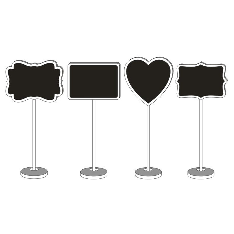 Hart Vorm Houten Mini Blackboard Krijtbord Mini Schoolbord Beschrijfbare Uitwisbare Bericht Tafel Nummer Bruiloft Bureau Naam Stand Reputatie Eerst