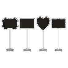 Símbolo do coração De Madeira Mini Blackboard quadro Mini Blackboard Gravável Apagável Mensagem Número Da Tabela Do Casamento Nome Do Suporte de Mesa