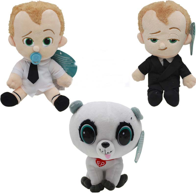 3pcs/lot 20cm The Boss Baby Stuffed Animal Plush Figure Doll Toys For kids Christmas Gifts