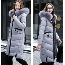 2017 New Arrival Casual Parkas Warm Long Sleeve Ladies Basic Coat jaqueta feminina jacket ladies parkas cotton Women Winter