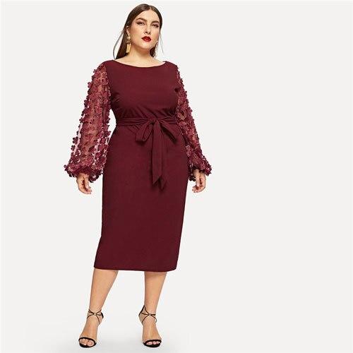Burgundy Women Plus Size...