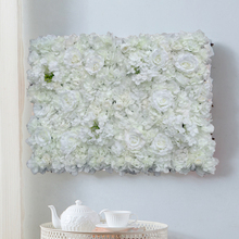1pcs מלאכותי פרח קיר רקע חתונה קישוט דשא עמוד כביש עופרת פרח קשת משי רוז הידראנגאה לבן פרח