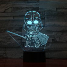 Novelty Lights Star Wars Darth Vader Children Bedroom Decoration Nightlight Kids Birthday Gift 3d Led Night Light Lamp Star Wars famshin high quality top 2018 star wars keyring light black darth vader pendant led keychain for man gift free shipping