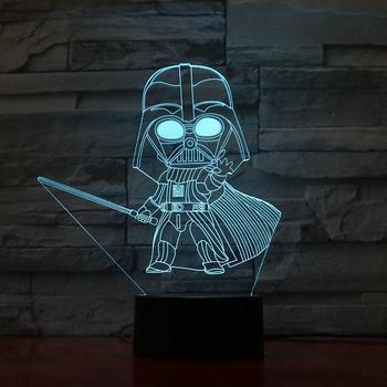 Novelty Lights Star Wars Darth Vader Children Bedroom Decoration Nightlight Kids Birthday Gift 3d Led Night Light Lamp Star Wars