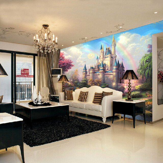 European Style Wallpaper Living Room Bedroom TV Backdrop Wall Paper  Entrance Large Mural Wallpaper 3D