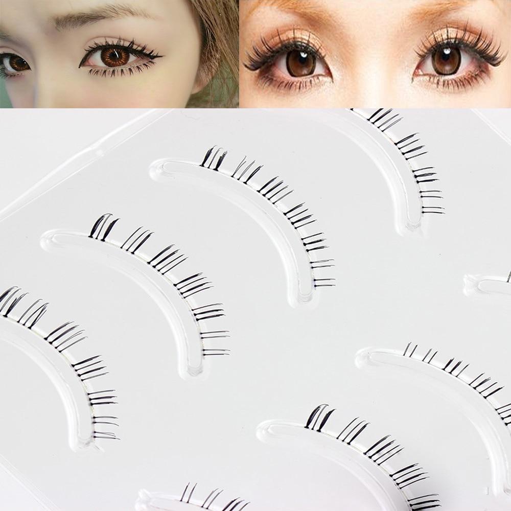 4 Pairs Natural False Eyelashes Handmade Lower Under Bottom Eye Lashes Extension Black Artificial False Eyelashes Makeup