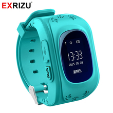 EXRIZU Q50 GPS Smart Watch Phone OLED SOS Call SIM Card Location Finder Locator Tracker Anti Lost Monitor for Kid Children Safe